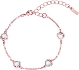 Ted Baker Heniee Crystal Heart Line Bracelet