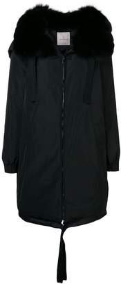 Moncler fur collar down coat