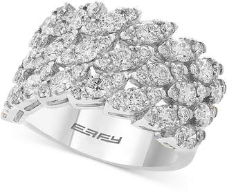 Effy Marquise-Look Cluster Ring (2-1/4 ct. t.w.) in 14k White Gold