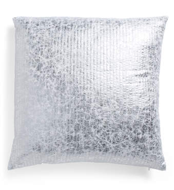 26x26 Metallic Crackle Pillow