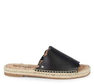 Sam Edelman Andy Pebbled Leather Espadrille Slides