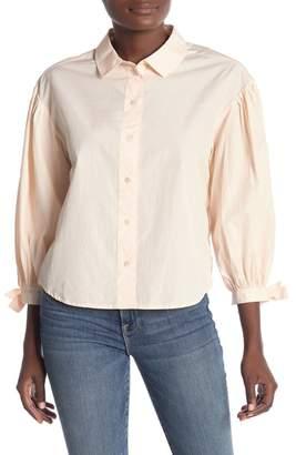 Frame Tie Cuff Long Sleeve Shirt