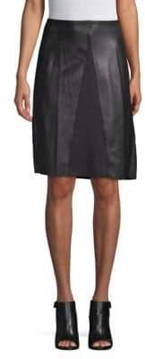 Catherine Malandrino Faux-Leather A-line Dress