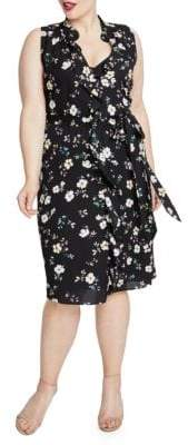 Rachel Roy Brit Ruffled Floral Dress