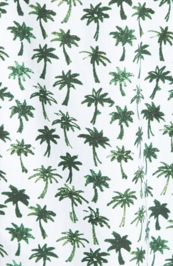Women's Milly Bambino Palm Print Midi Dress 3