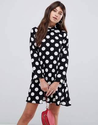 AX Paris long sleeve polka dot skater dress