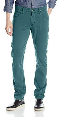 Hudson Jeans Men's Blake Slim Straight Leg + Double Cuff Lightweight Twill Pant