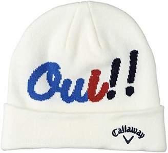 Callaway (キャロウェイ) - [キャロウェイ] [レディース] ニット キャップ (ジャガードロゴ) / 241-8284805 / 帽子 ゴルフ 030_ホワイト 日本 FR (FREE サイズ)