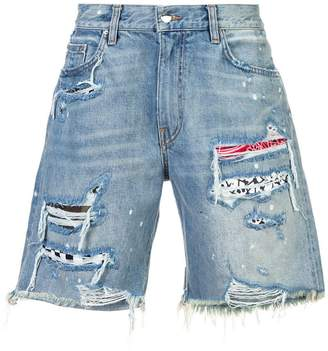 Amiri art patch painted shorts