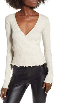 BP Lettuce Edge Ribbed Top