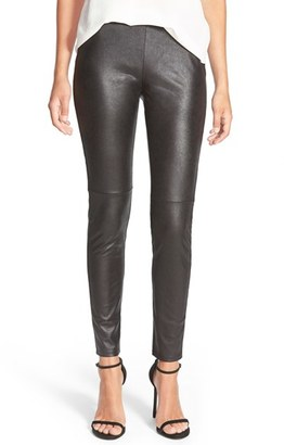 Women's Trouve Faux Leather Leggings $79 thestylecure.com