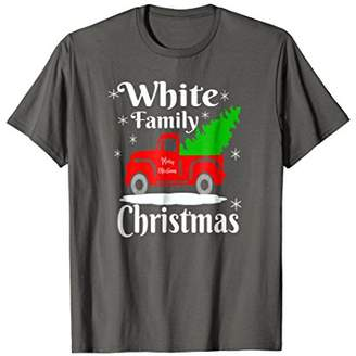 White Family Christmas Personalize Matching Christmas Shirts