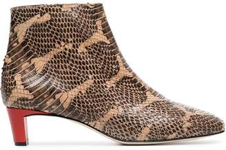 Atelier Atp Clusia 45 snake embossed Boots