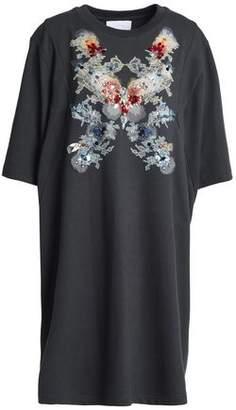 Koché Embellished Embroidered Cotton-Blend Mini Dress
