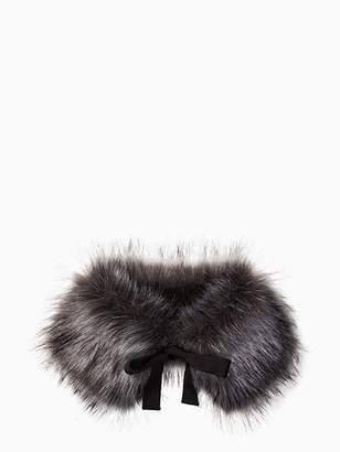 Kate Spade Silver fox faux fur collar