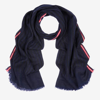 Bally Wool Jacquard Stripe Scarf