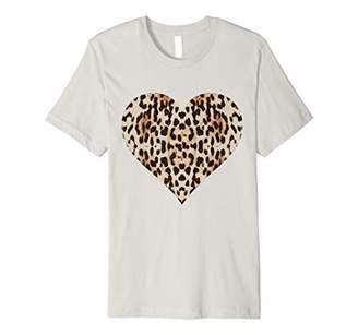 Cheetah Leopard Heart t-shirt Cool Animal Print Love Symbol