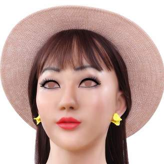 Cyomi Soft Silicone Realistic Female Head Mask Handmade Face Cosplay Apparel for Crossdresser Transgender 1G