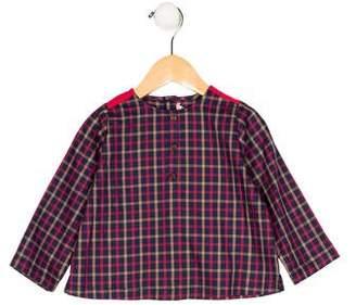Petite Lucette Boys' Gingham Long Sleeve Shirt w/ Tags