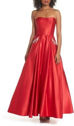 Blondie Nites Embellished Strapless Ballgown