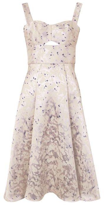 TopshopTopshop **jacquard midi prom dress