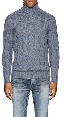 24bb9110b2 Barneys New York Men s Cable-Knit Wool-Mohair Turtleneck Sweater - Md. Blue