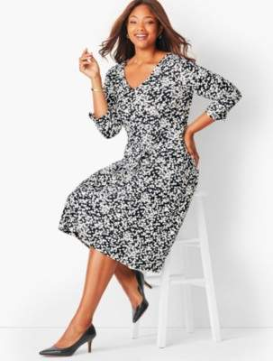 Talbots Plus Size Petal Fit & Flare Dress