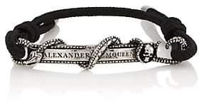 Alexander McQueen Men's Snake & Skull Bracelet - Black