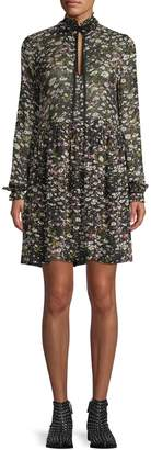 Ganni Floral Mini Shift Dress