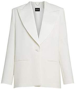 Magda Butrym Women's Oversized Wool & Silk Tuxedo Jacket