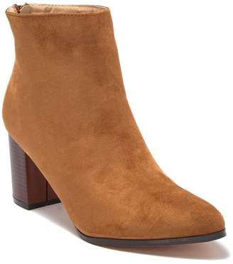 Chase & Chloe Reward Stacked Block Heel Bootie