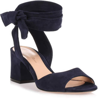 Gianvito Rossi Nika 60 navy suede sandal