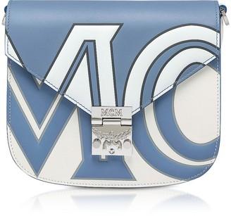 MCM Small Patricia Contrast Logo Shoulder Bag