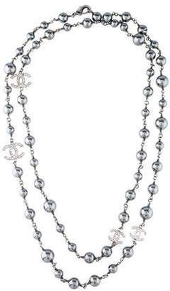 Chanel CC Faux Pearl Strand Necklace