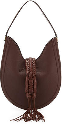 Altuzarra Ghianda Small Woven Leather Hobo Bag