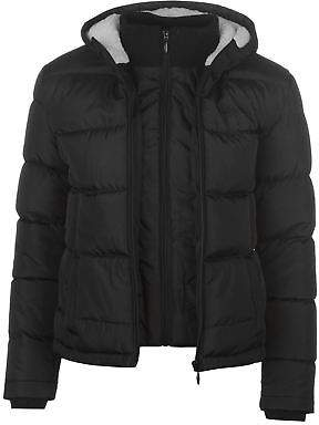 Lee Cooper Womens Ladies Bubble Jacket Padded Coat Top Hooded Zip Insulated