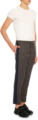 Prada Men's Side-Stripe Ankle Pants