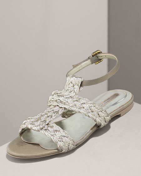 Stella McCartney Braided Gladiator Flat