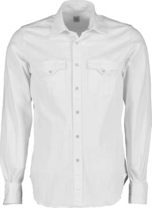 Eleventy Western Denim Snap Shirt