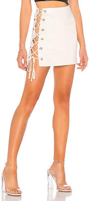 h:ours Silver Mini Skirt