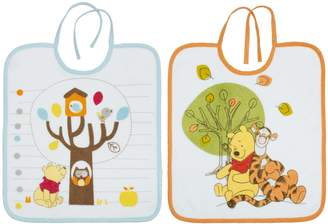 Babycalin Winnie The Pooh Infant Bibs 28x 32cm Set of 2Orange/Blue