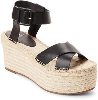 Marc Fisher Black Randall Platform Espadrille Sandals