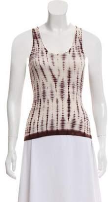 Oscar de la Renta Tie-Dye Silk-Cashmere Sweater w/ Tags