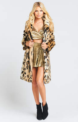 Show Me Your Mumu Miss Cindy Overcoat Jacket ~ Feline Faux Fur