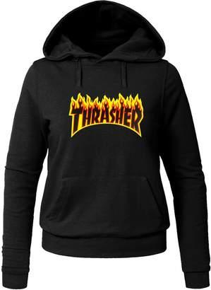 Thrasher Flame Hoodies Thrasher Flame For Ladies Womens Hoodies Sweatshirts Pullover Tops