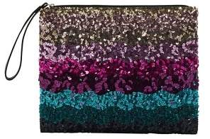 Violeta BY MANGO Sequin clutch