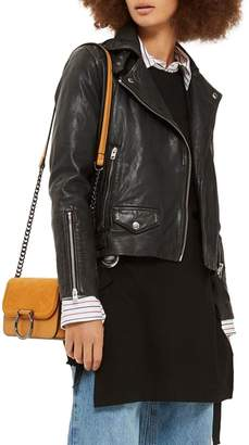 Topshop Tammy Leather Biker Jacket