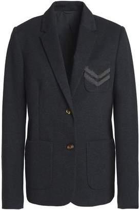 Brunello Cucinelli Bead-Embellished Mélange Cotton-Blend Jersey Blazer