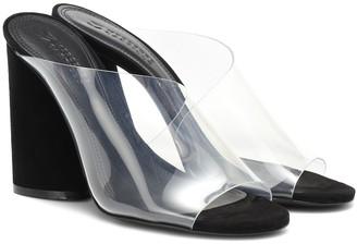 Mercedes Castillo Kuri suede and PVC sandals