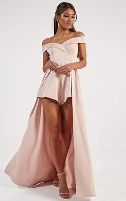 Showpo Eyes On Her Maxi Playsuit in blush - 8 (S) Playsuits &